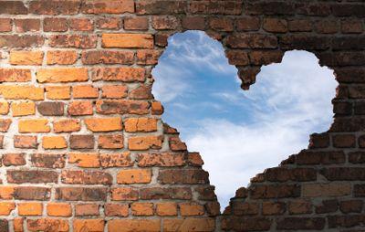 brick wall heart