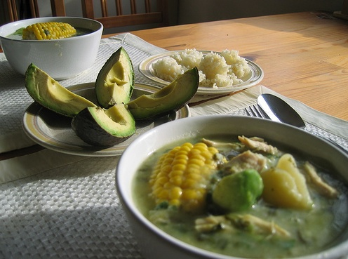 Ajiaco! (a favorite of mine) Colombian Chicken and Potato Soup