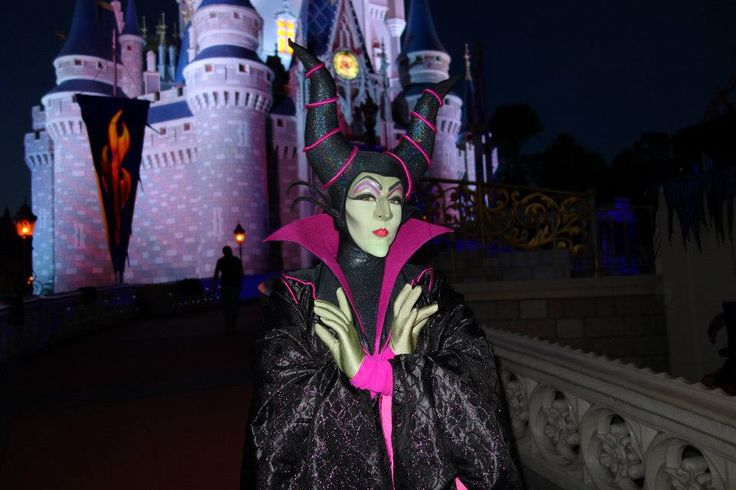 Maleficent at Disney World