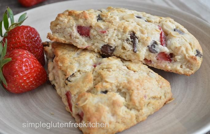 Strawberry and chocolate chip scones | For the love of FOOD | Pintere ...