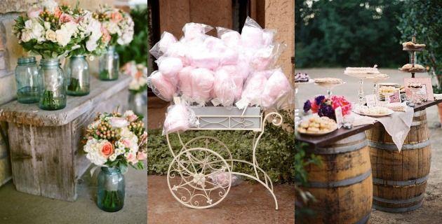 decoração para casamento rústico ou bucólico