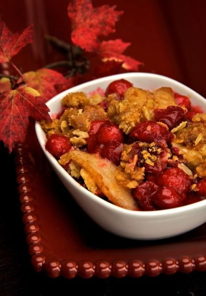 Cranberry-Pear Crisp, a favorite spin on the traditional dessert. # ...