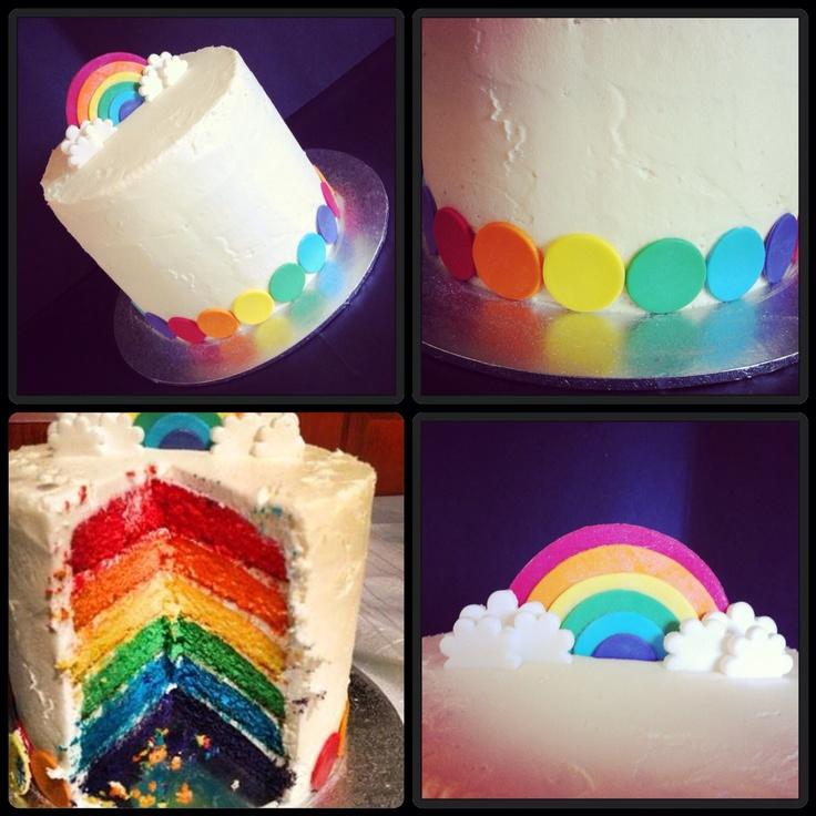 Rainbow layer cake. | For my cake-maker | Pinterest