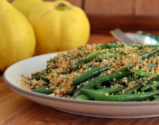 Lemony Green Beans With Almond Breadcrumbs | Recipe