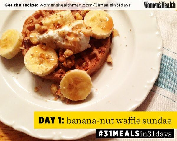 The Banana-Nut Waffle Sundae You NEED To Try | Women's Health Magazine