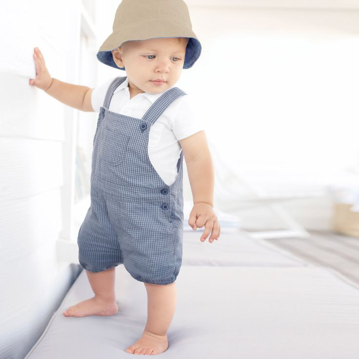 Check Dungarees The White pany Baby Boy