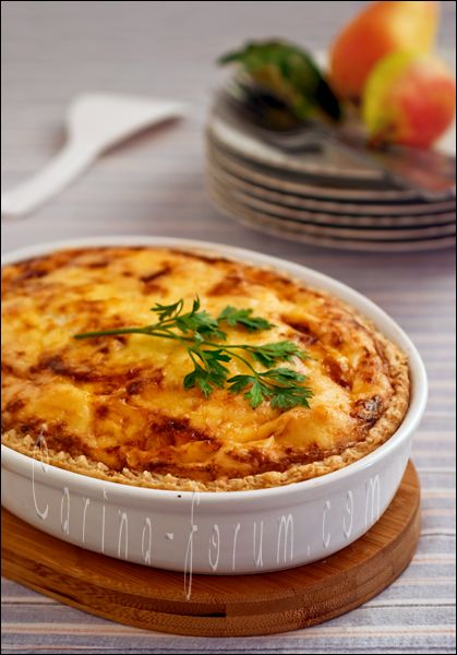 ... and Walnut Quiche with Emmental cheese & Parmesan (Parmigiano) cheese