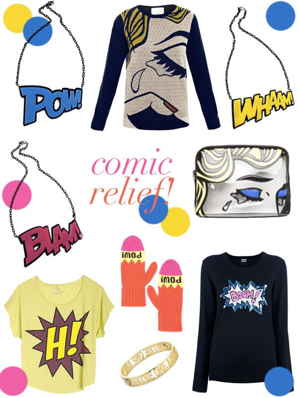 So obsessed with the comic-print trend for Fall...