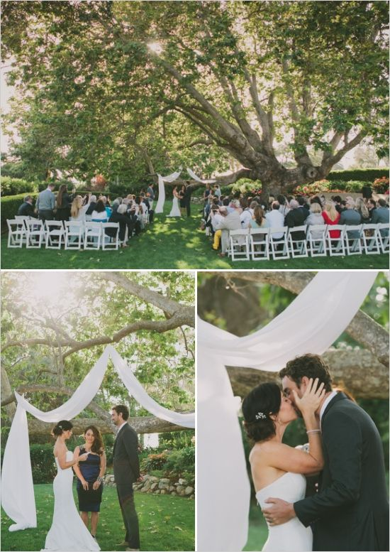 Casual Backyard Wedding Ceremony : Love this outdoorbeach casual wedding
