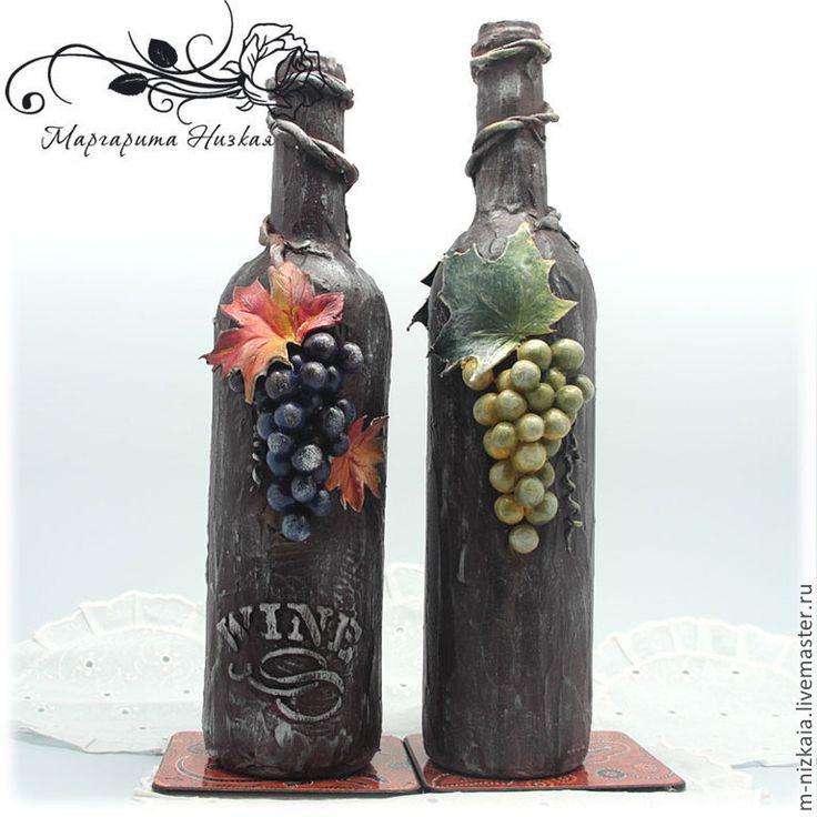 Украсить бутылку с вином своими руками 468