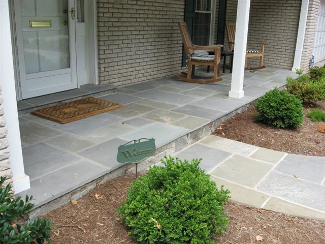 Front yard walkway and step landscaping home landscape for Landscaping front steps