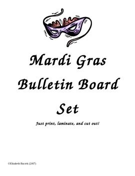 your classroom for Mardi Gras with this great bulletin board set