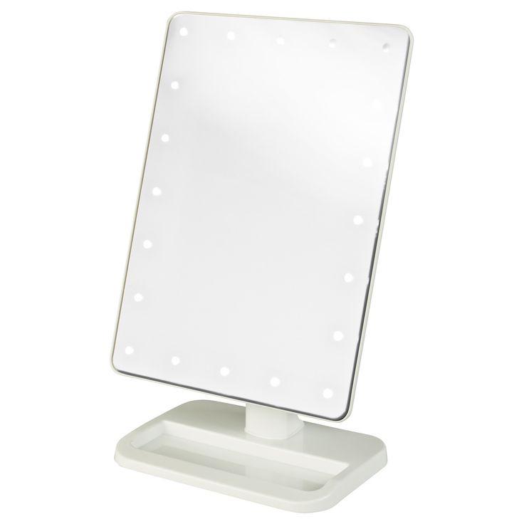 jerdon 8 inch portable10x led lighted makeup mirror. Black Bedroom Furniture Sets. Home Design Ideas
