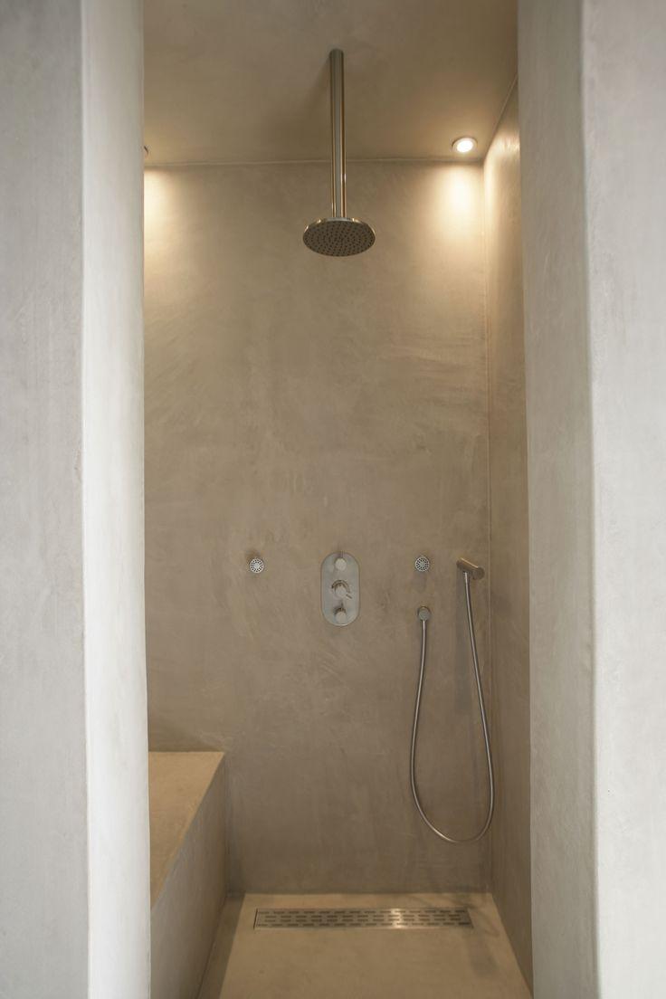 Badkamer Betonlook Hout ~ Carte Colori Tadelakt douche Inspiratie betonlookdesign interesse in