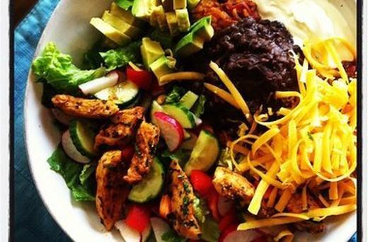 Taco Salad Bowls With Homemade Spanish Rice Recipes — Dishmaps