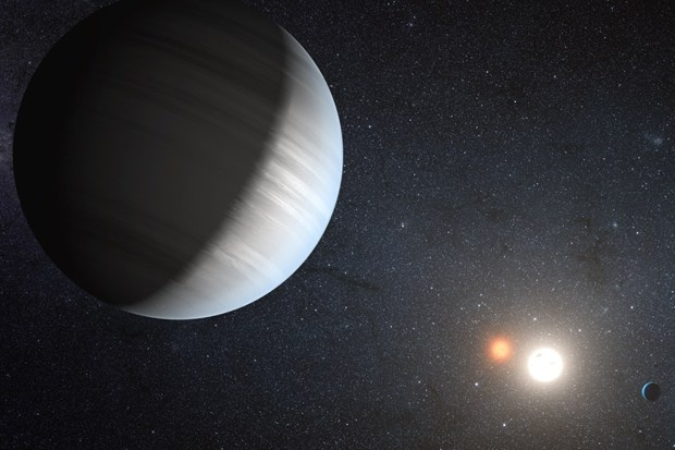 Two planets orbiting binary star system