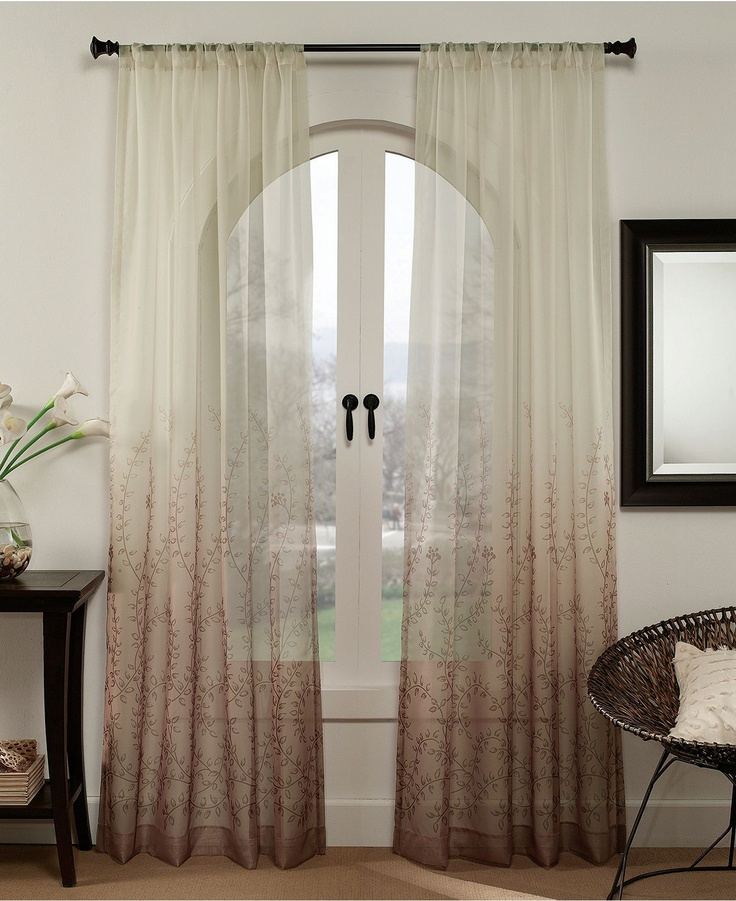 """Peri Window Treatments, Sonoma 50"""" x 95"""" Panel - Sheer Curtains - for ..."""