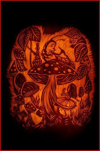 Alice in wonderland pumpkin off with her head pinterest
