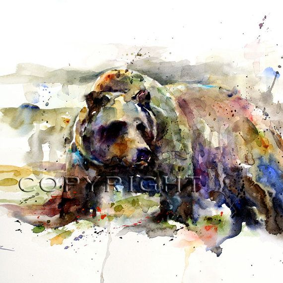 GRIZZLY BEAR Watercolor Print By Dean Crouser by DeanCrouserArt, $45.00