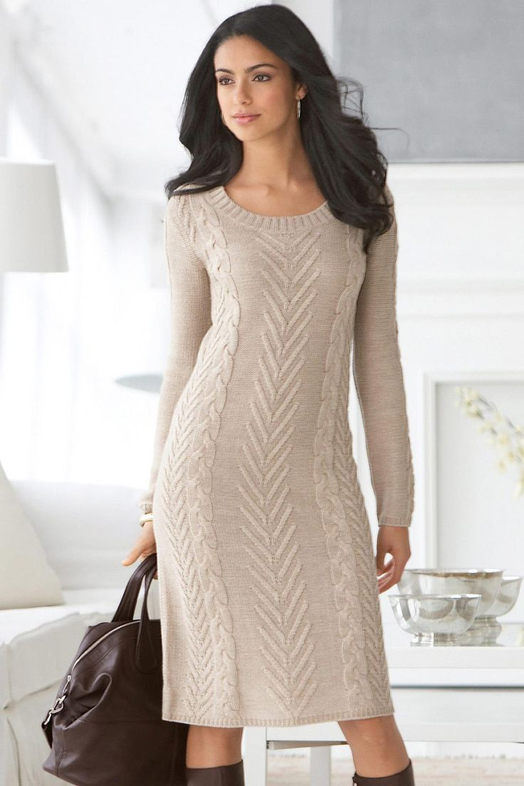 Cable Knit Sweater Dress Knitting - dresses Pinterest