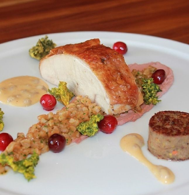 Slow Roasted Turkey Breast and Confit Leg from @Four Seasons Hotel San ...