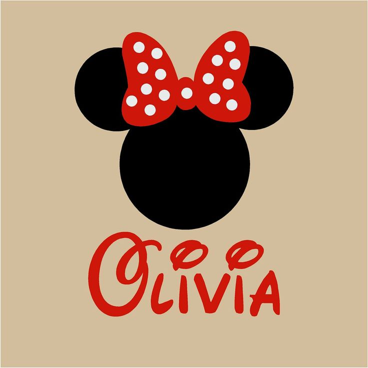 Minnie Mouse Wall Decal Custom Name Wall Art