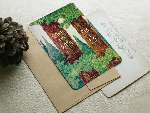 Rustic Wedding Save the Dates or Vintage Inspired  by GoGoSnap. CUTE! But maybe too evocative of summer camp?