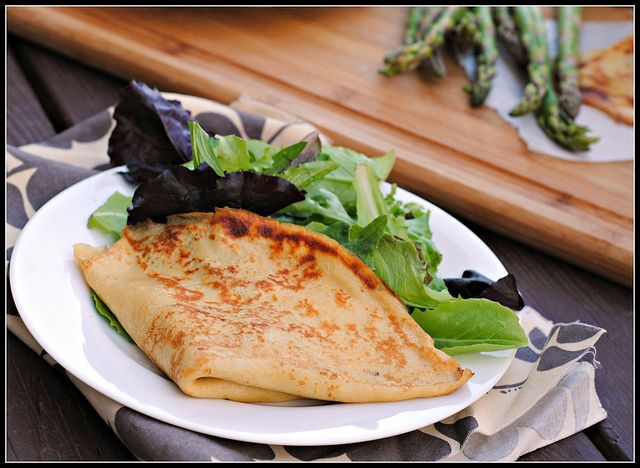 Grilled Crepes with Mozzarella and Shaved Asparagus | via Prevention ...