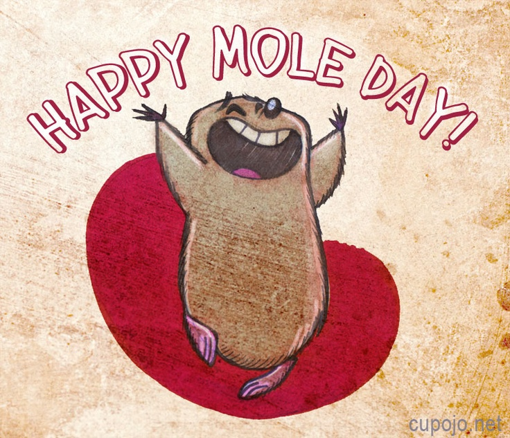 mole day flag