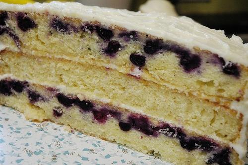 triple lemon blueberry layer cake | BAKING | Pinterest