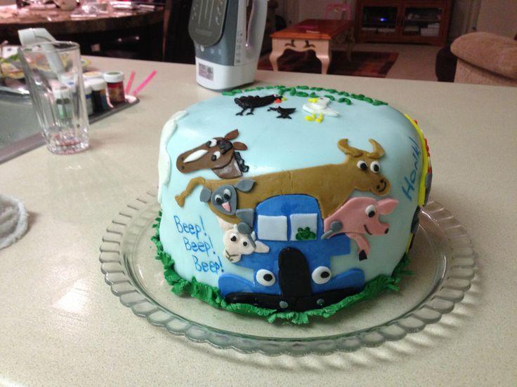 Little blue truck birthday cake  Little Blue Truck  Pinterest