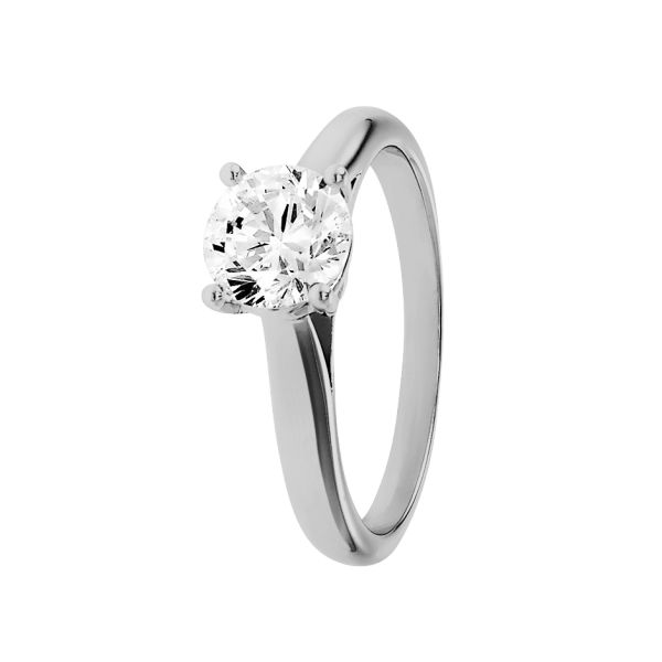 Classic engagement ring Zurich in 950 platinum