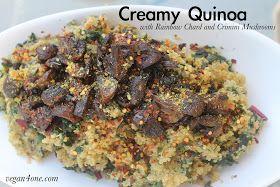 ... : Creamy Quinoa with Rainbow Swiss Chard and Crimini Mushrooms