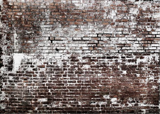 Brick wall treatment by concretewall launchpad at mcny - Papier peint imitation brique relief ...