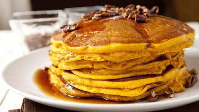Pecans, pumpkin and spice make these pancakes extraordinary and the ...