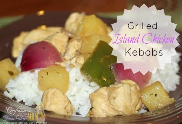 Grilled Island Chicken Kebabs (minus the skewers) More #recipes: http ...