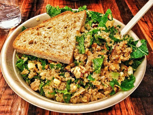 Back Bay! | Healthy Custom Salad: kale, warm quinoa, sliced almonds ...