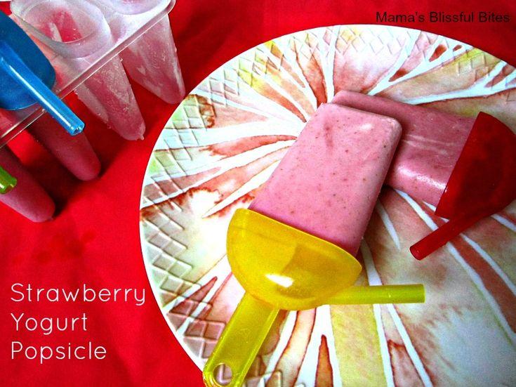 Strawberry Yogurt Popsicle | Berry Recipes | Pinterest
