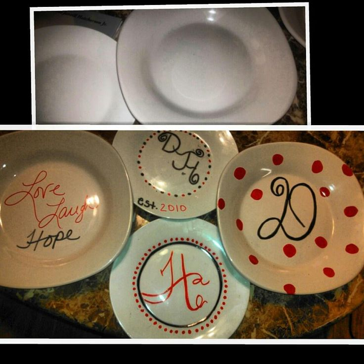 Dollar tree Plates and Permanent markers. GREAT FOR CHRISTMAS GIFTS!