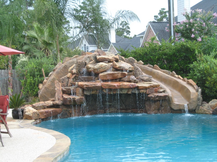 custom pool water slides joy studio design gallery