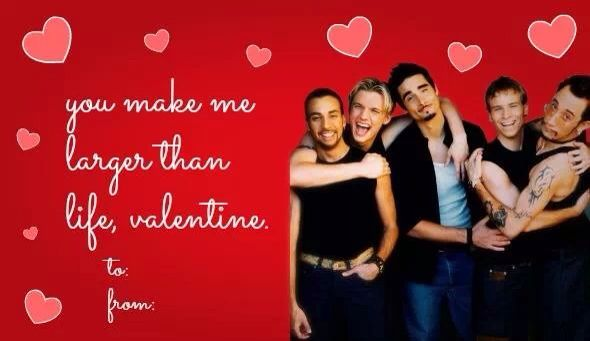 Valentines Day Card From Bsb Backstreet Boys