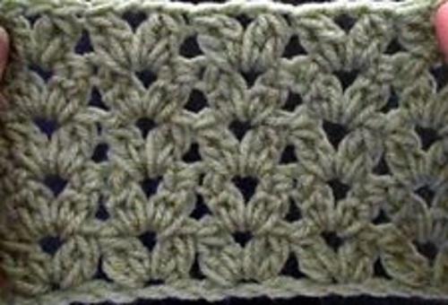 Ravelry: Cluster V Stitch pattern by Teresa Richardson