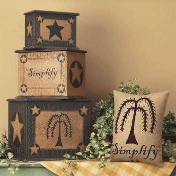 Country primitive home decor on stacking boxes pinterest - Beths country primitive home decor ideas ...