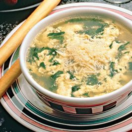 Create your own restaurant-style egg drop soup with spinach, egg and ...