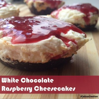 Ripped Recipes - White Chocolate Raspberry Cheesecakes - Low Fat. High ...