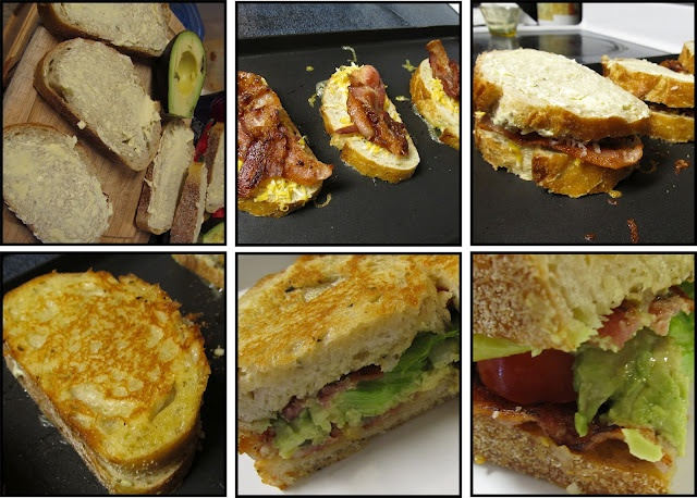 Bacon, Lettuce, Tomato & Avocado GRILLED CHEESE SANDWICHES! SO good, I ...