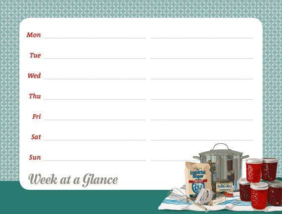 Week at a Glance Magnetic Dry Erase Calendar by RichardCreative, $18 ...