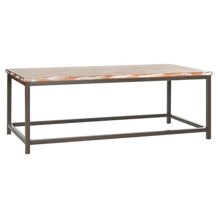Wood Top And Minimalist Metal Frame This Stylish Coffee Table