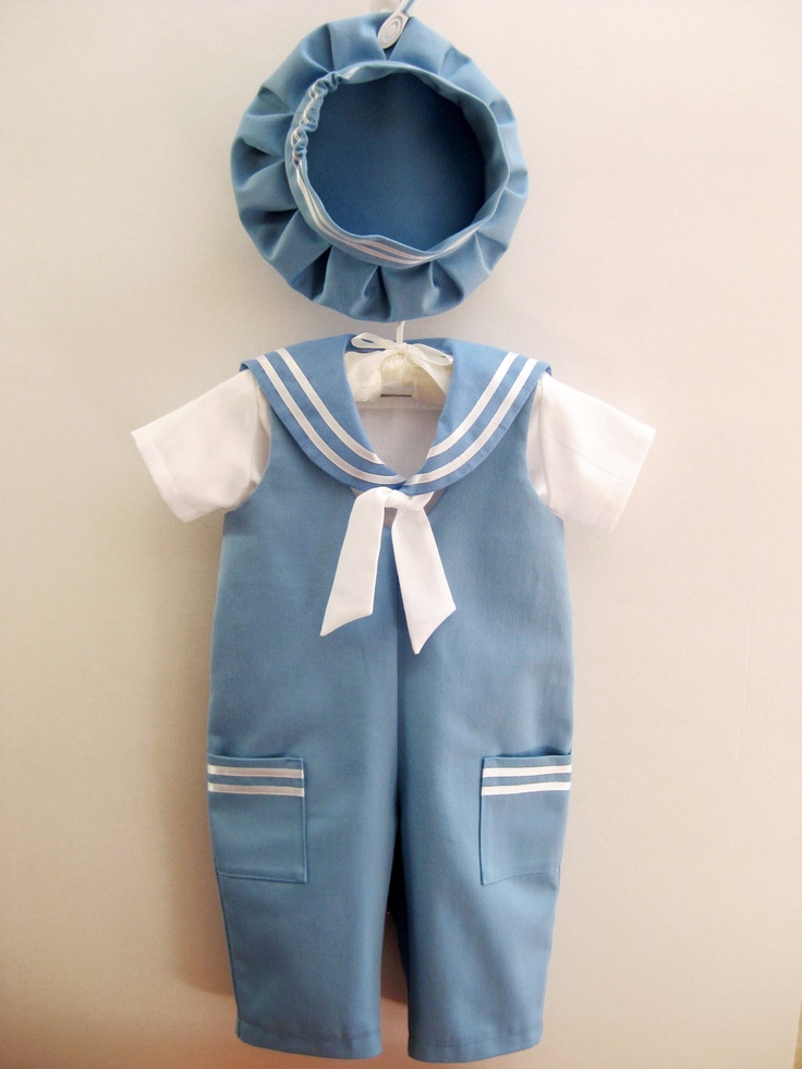 Sailor Baby Boy Outfit Baptism Christening