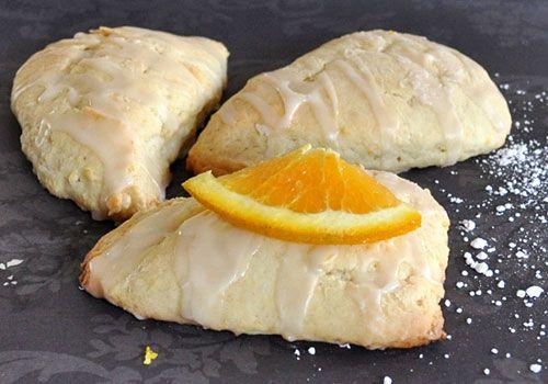These turned out SOOO Yummy (Egg Free Glazed Orange Scones)